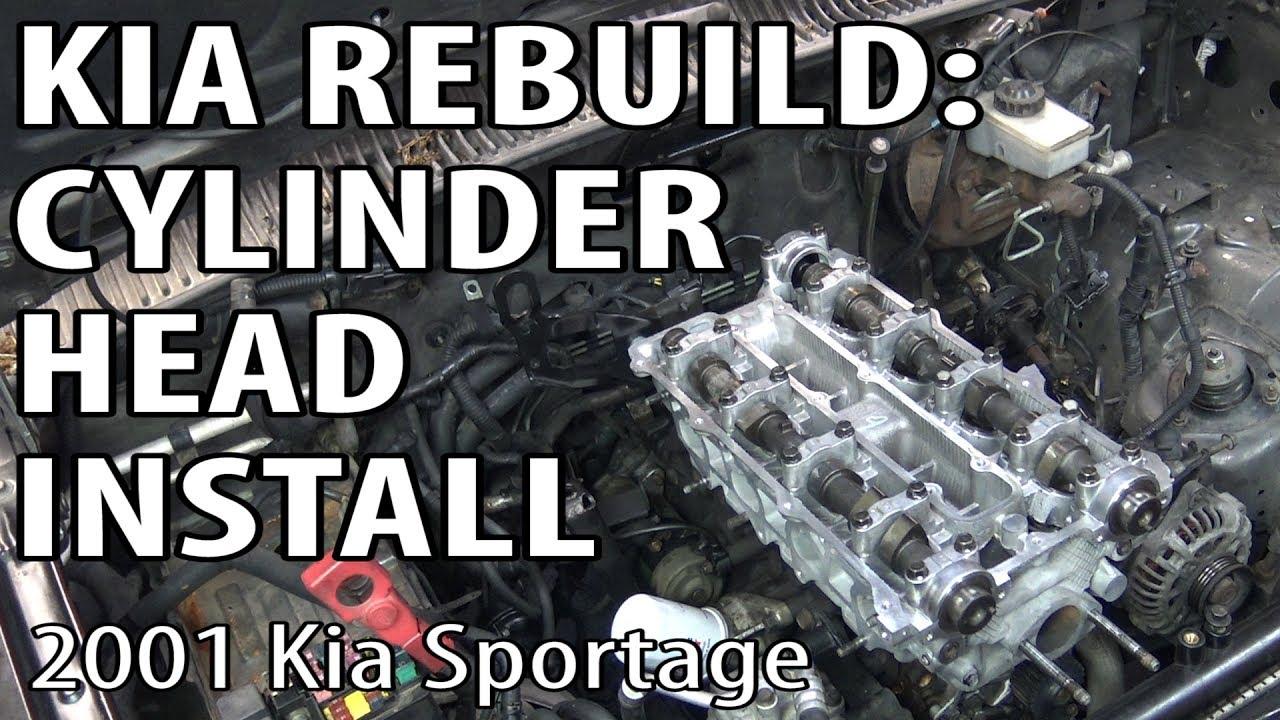 medium resolution of kia sportage rebuild cylinder head install timing procedure