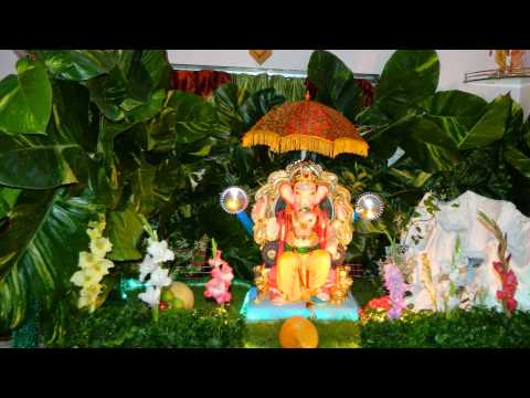 Eco friendly ganpati decoration youtube for Home decorations youtube