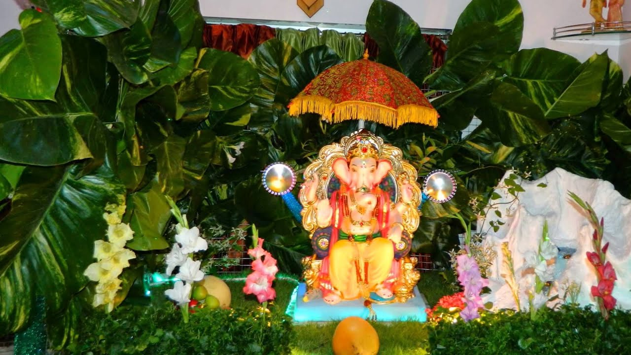 Eco friendly ganpati decoration youtube Environmentally friendly decorations