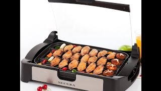 Review: Secura 1700w Electric Reversible Grill Griddle With Glass Lid Gr-1503xl