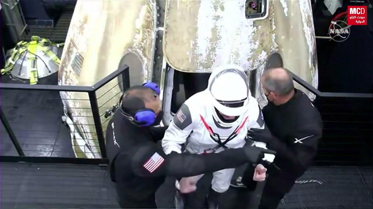أربعة رواد يعودون من محطة الفضاء الدولية في مركبة لـ-سبيس إكس-