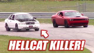 Supercharged Cop Car TAKES DOWN a Hellcat, GT500, and the BoostedBoiz!