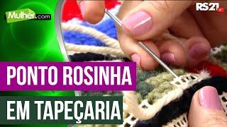 Ponto rosinha em tapeçaria – Ana Maria Sousa PT1