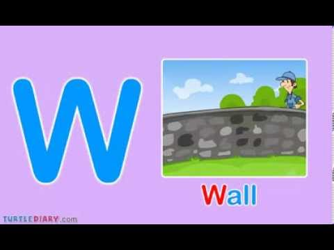 Toddler Words Words Starting With W Youtube