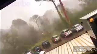 BREAKING strong Tornado reported in Milano Marittima north Italy July 10th