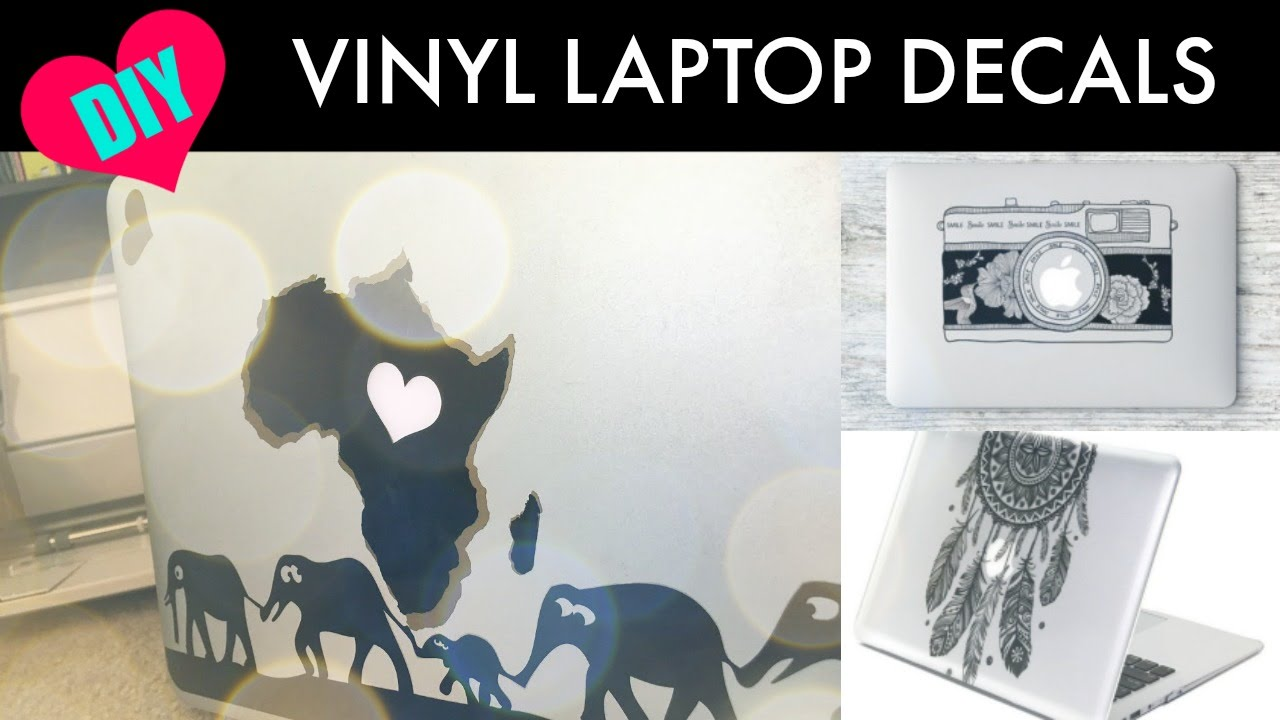 Diy vinyl laptop decals with the cricut explore air