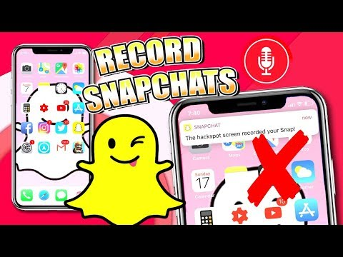 How To SCREEN RECORD Snapchat Videos WITHOUT THEM KNOWING - iOS 11/10 (iPhone, iPad, iPod) NO HACKS!