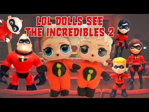 LOL Surprise Dolls See the Incredibles 2 Movie at the Theater! Featuring Madam Queen!