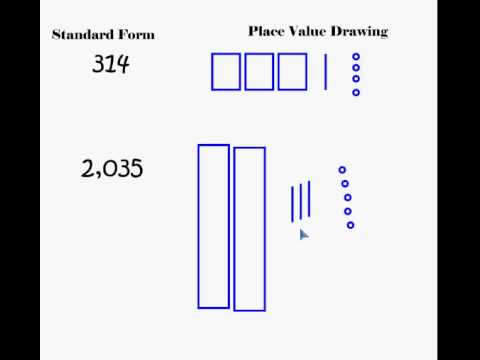 Money Values With Place Value Drawings Youtube