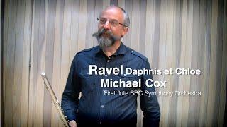 Равель, Дафнис и Хлоя, видео урок первой флейты симфонического оркестра Би-Би-Си Майкла Кокса