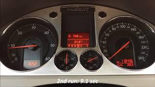 2006 VW Passat B6 2.0 TDI 170 HP DSG Acceleration 0 - 170 km/h
