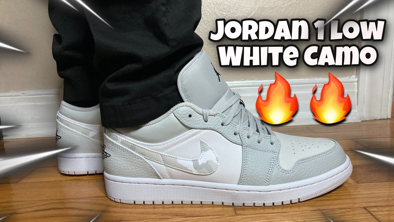 Jordan 1 Low White Camo Review! On Feet & Resell Predictions!