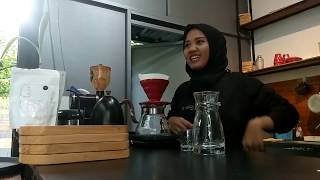 Japanese Iced Coffee at Overtime Coffee Banjar  Manual Brewing