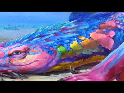 How To Paint Iridescence & The Look Of Pearl - The Fantasy Mural