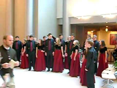 East High School Madrigal Choir sings Baby It's Cold Outside at University Hospital SLC, UT