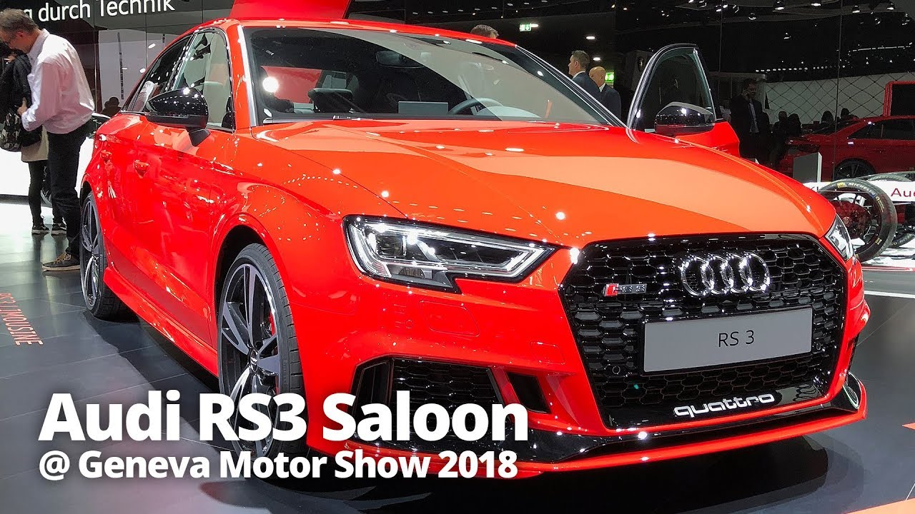 audi rs3 saloon 2018 at geneva motor show 2018 stable lease youtube. Black Bedroom Furniture Sets. Home Design Ideas