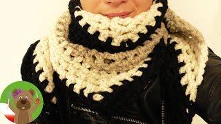 Zimowy szal na szydełku | szydełkowanie dla początkujących | prosty wzorek
