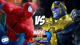 Spider-Man VS Thanos Marvel vs Capcom Infinite Gameplay