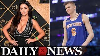 Knicks' Kristaps Porzingis Makes A Move For Instagram Model Abigail Ratchford