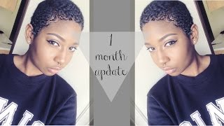 New Feelings & New Growth - Big Chop 1 Month Update