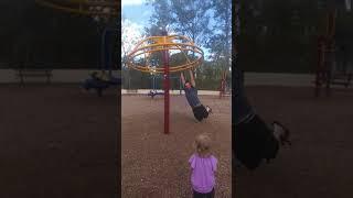 Playground spin dad fail