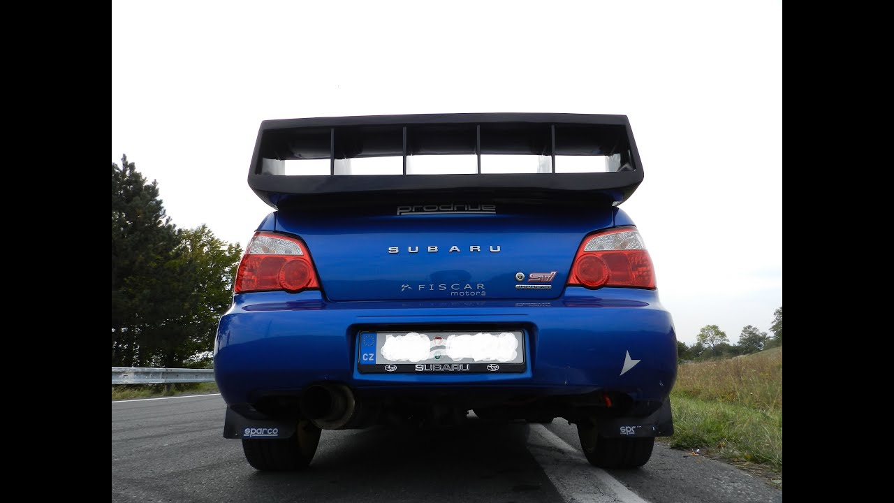 Subaru Impreza Wrx Sti Carbon Vs Laminate Wing Youtube