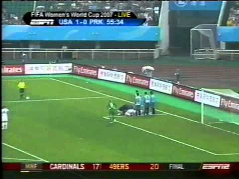 2007 Women's World Cup group stage: USA v North Korea