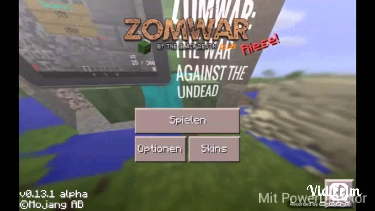 Minecraft Pe Cod Black Ops Zombies Mod YouTube - Minecraft spiele mit zombies