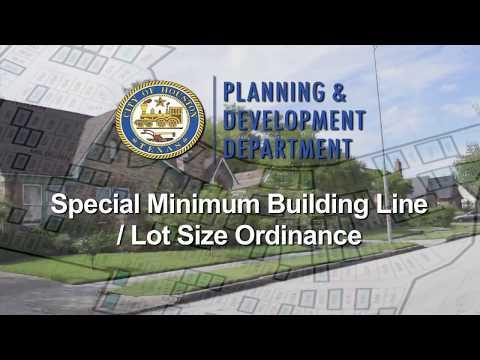 Houston Planning and Development: Minimum Lot Size (English Version)