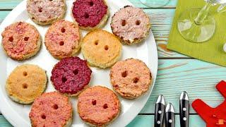 Закуски на Новый год 2019 «Пятачки» — вкусные и простые бутерброды на праздничный стол