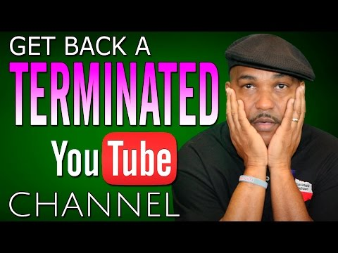 How To Get Back a Terminated YouTube Account / Channel