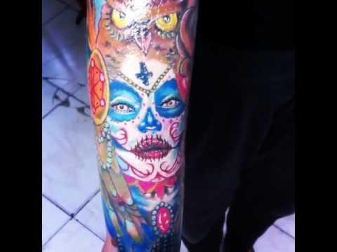 Catrina Tattoo Color Youtube