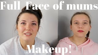 FULL FACE OF OUR MUMS MAKEUP!|CHLOE AND LOUISE