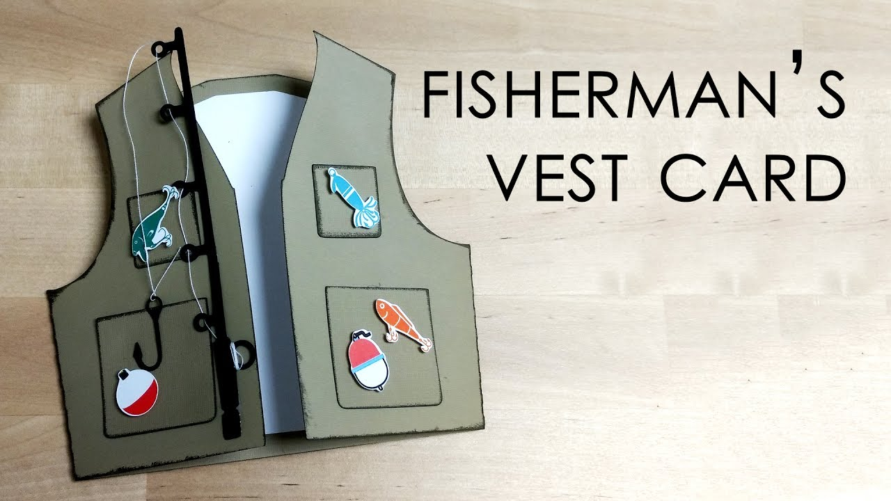 Download Tutorial Template Fishing Vest Card Youtube