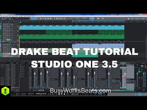 STUDIO ONE - Drake Beat Tutorial [FREE PROJECT FILES]