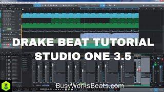 STUDIO ONE - Drake Beat Tutorial [FREE PROJECT FILES]