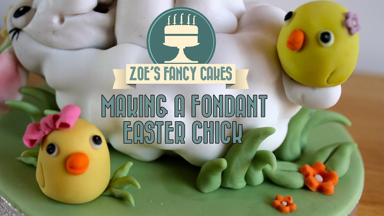 Easter Cakes Made Fondant