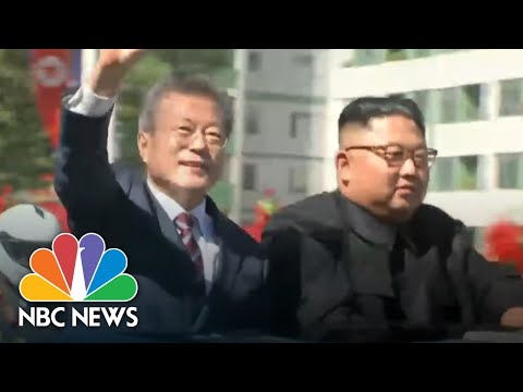 Hugs, Praise And High Expectations As Korean Leaders Meet In Pyongyang | NBC News
