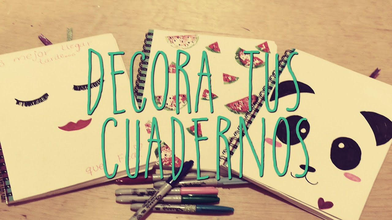 decoracion cuadernos sencillo y facil youtube