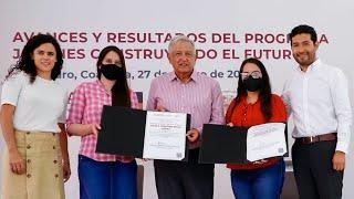 Avances del programa Jóvenes Construyendo el Futuro, desde San Pedro, Coahuila