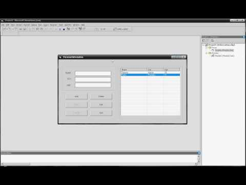 VB 6.0 / Visual Basic 6.0 Database Tutorial with listview add, save, delete, edit, search  data