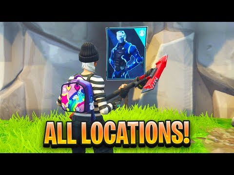 """Spray Over Different Carbide Or Omega Posters"" ALL LOCATIONS In Fortnite"