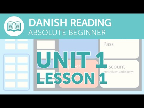 Danish Reading Practice for Absolute Beginners - Buying a Train Ticket