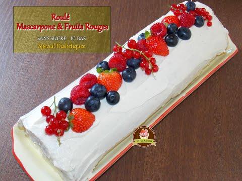 roulé-mascarpone-&-fruits-rouges-sans-sucre-ig-bas---spécial-diabétiques---miss-marta