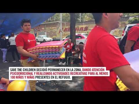 Trabajo de Save the Children después del sismo del 19 de septiembre