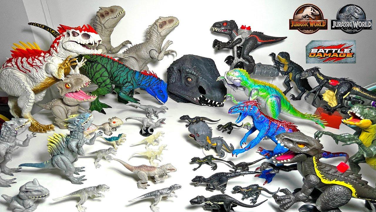 My Scorpios Rex, Indoraptor & Indominus Collection! Jurassic World Dinosaurs & Camp Cretaceous!