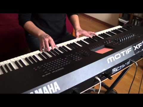 Snow In October. Slow Sad Romantic Piano Music. Yamaha Motif XF8