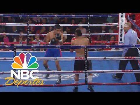 Oscar Saucedo vence por nocaut técnico a Elías Olivares | Boxeo Telemundo | NBC Deportes