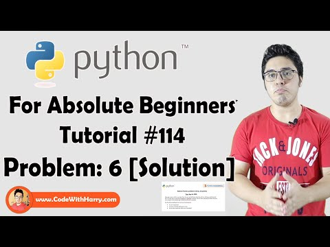 Python Problem 6: Solution | Python Tutorials For Absolute Beginners In Hindi #114 thumbnail