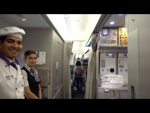 Turkish Airlines 777-300ER Business Class SFO to IST